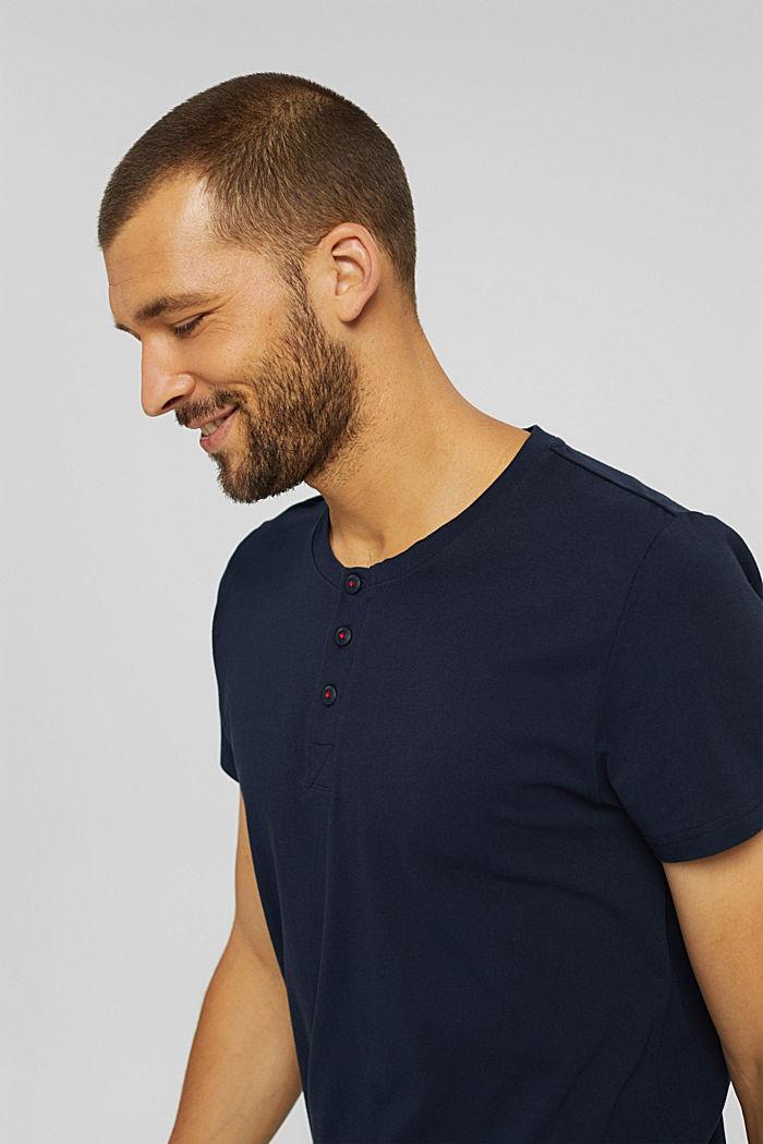 Short pyjamas made of 100% organic cotton, NAVY, detail image number 4