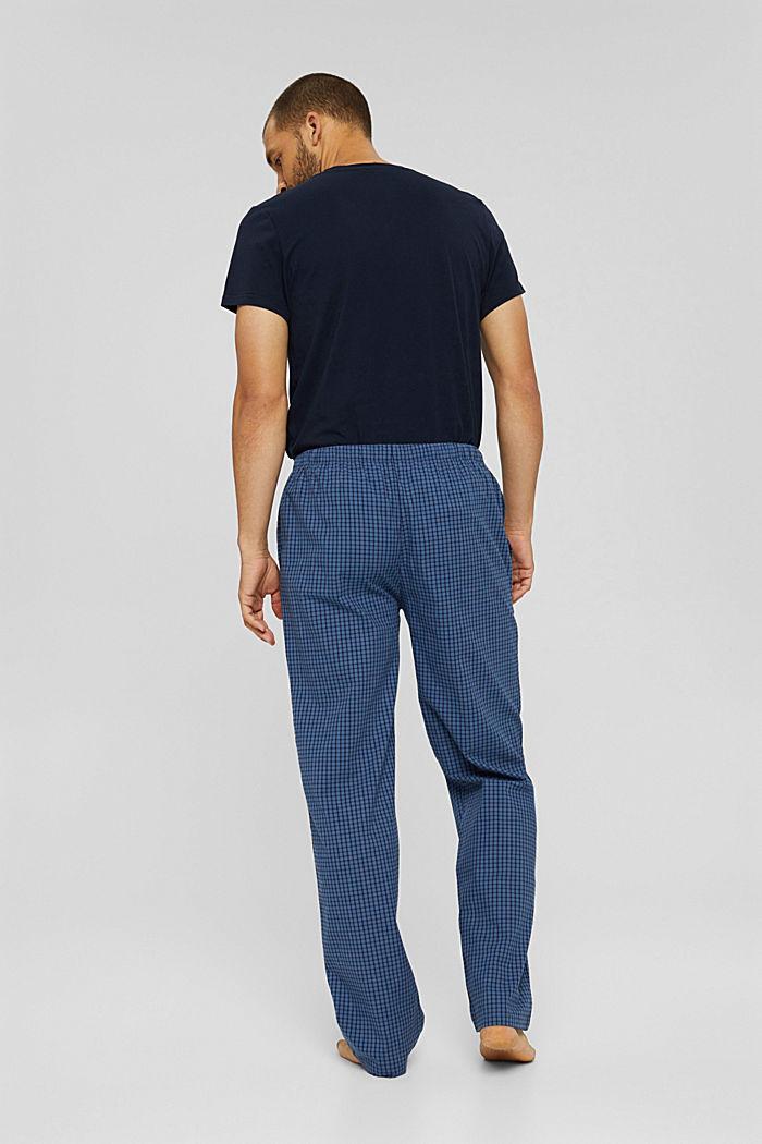 Lange pyjamabroek van 100% biologisch katoen, NAVY, detail image number 2
