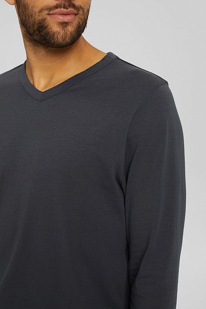 Pyjama van 100% biologisch katoen, DARK GREY, detail image number 3