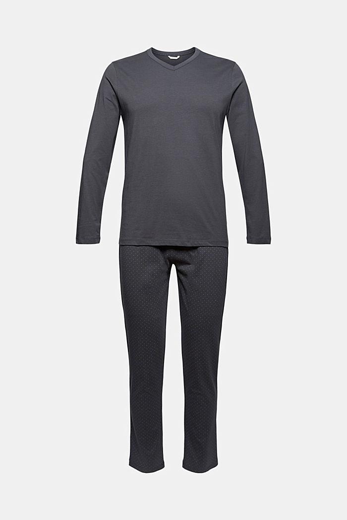 Pyjama van 100% biologisch katoen, DARK GREY, detail image number 4