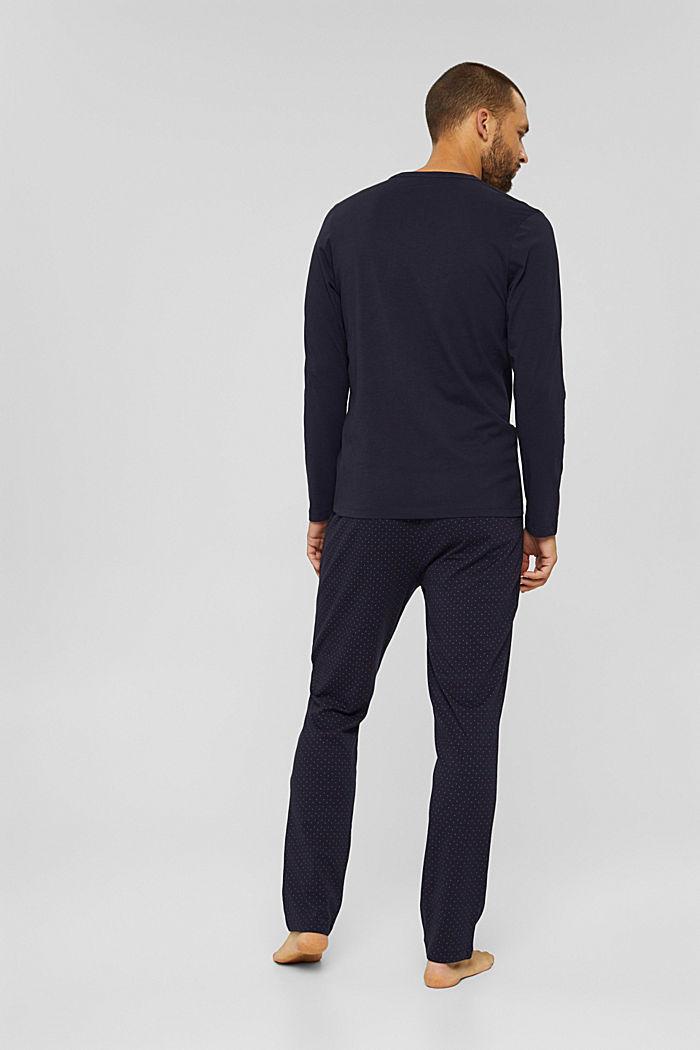 Pyjama aus 100% Bio-Baumwolle, NAVY, detail image number 1
