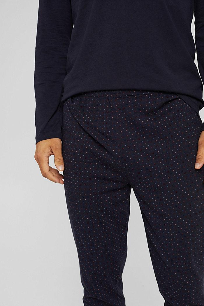 Pyjama aus 100% Bio-Baumwolle, NAVY, detail image number 2