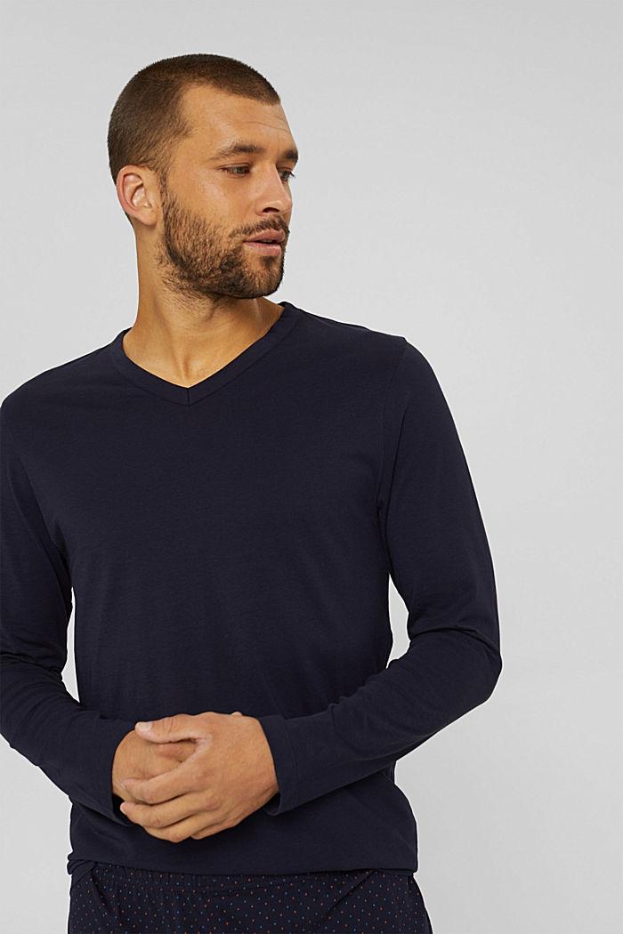 Pyjama aus 100% Bio-Baumwolle, NAVY, detail image number 3
