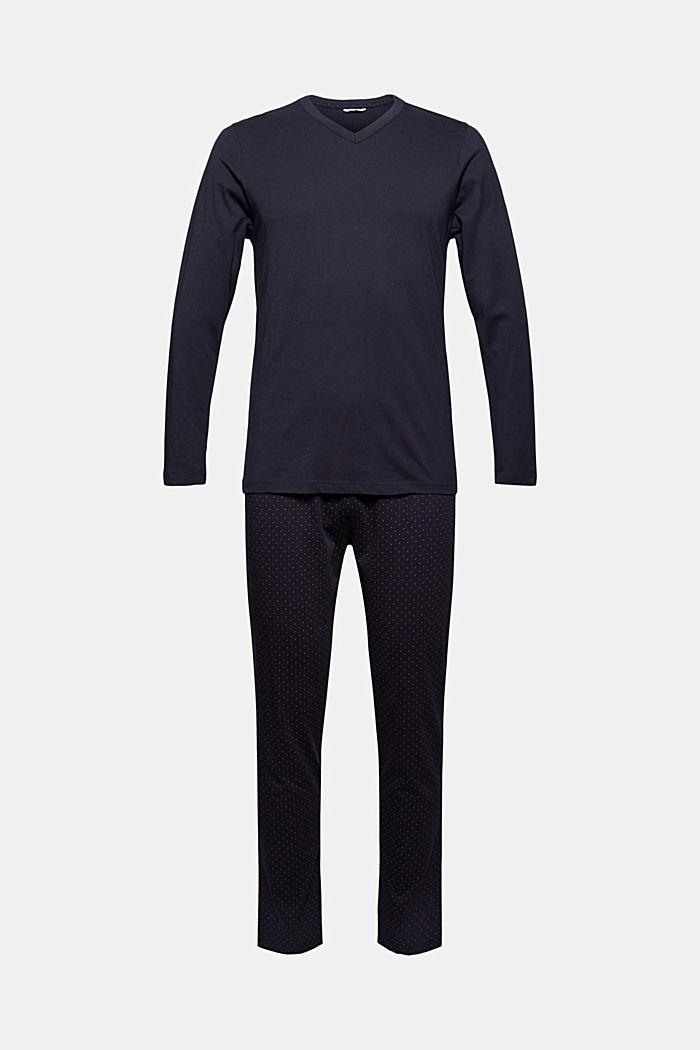 Pyjama aus 100% Bio-Baumwolle, NAVY, detail image number 4
