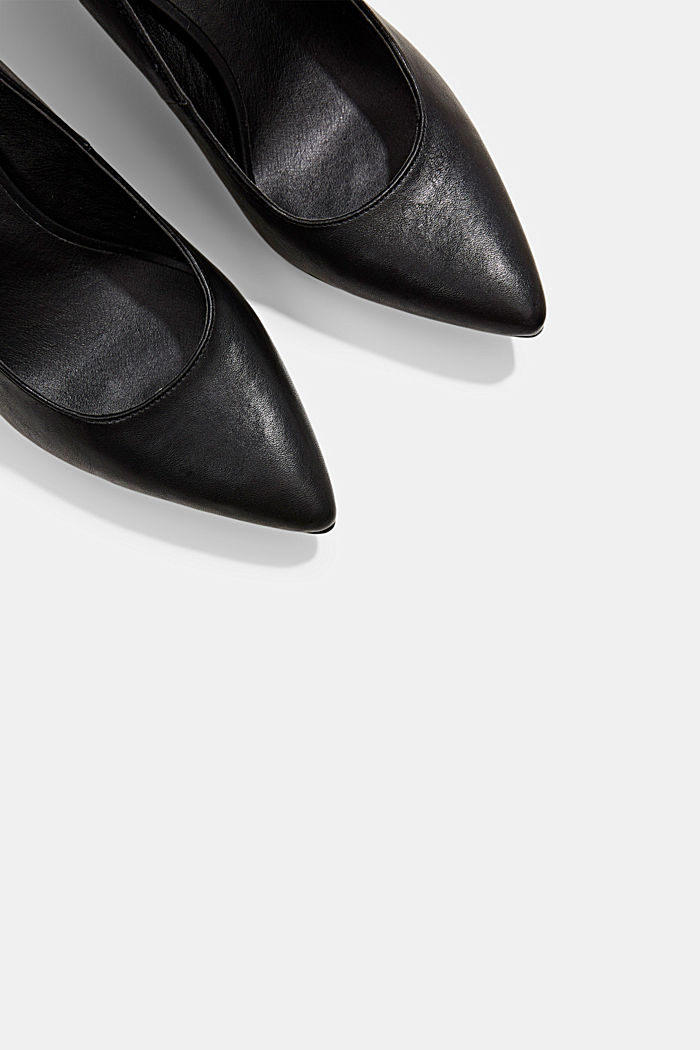 Escarpins en similicuir, BLACK, detail image number 4
