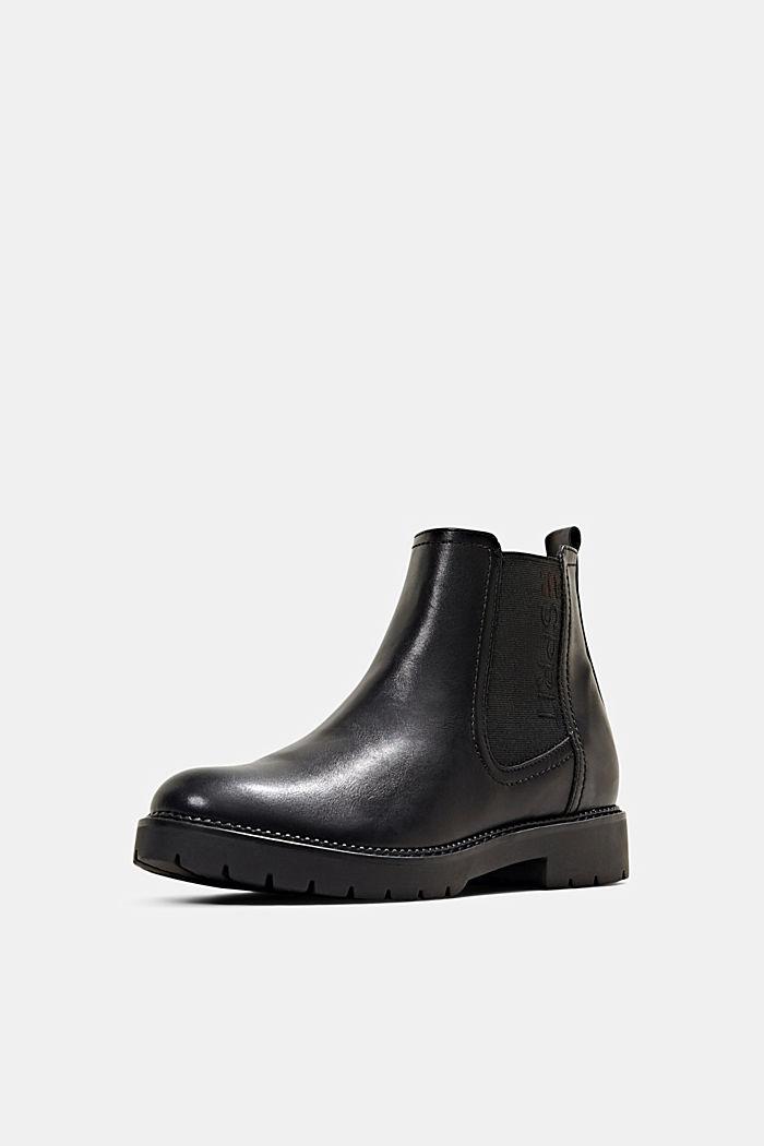 Chelsea-Boots mit Zipper in Lederoptik, BLACK, detail image number 2