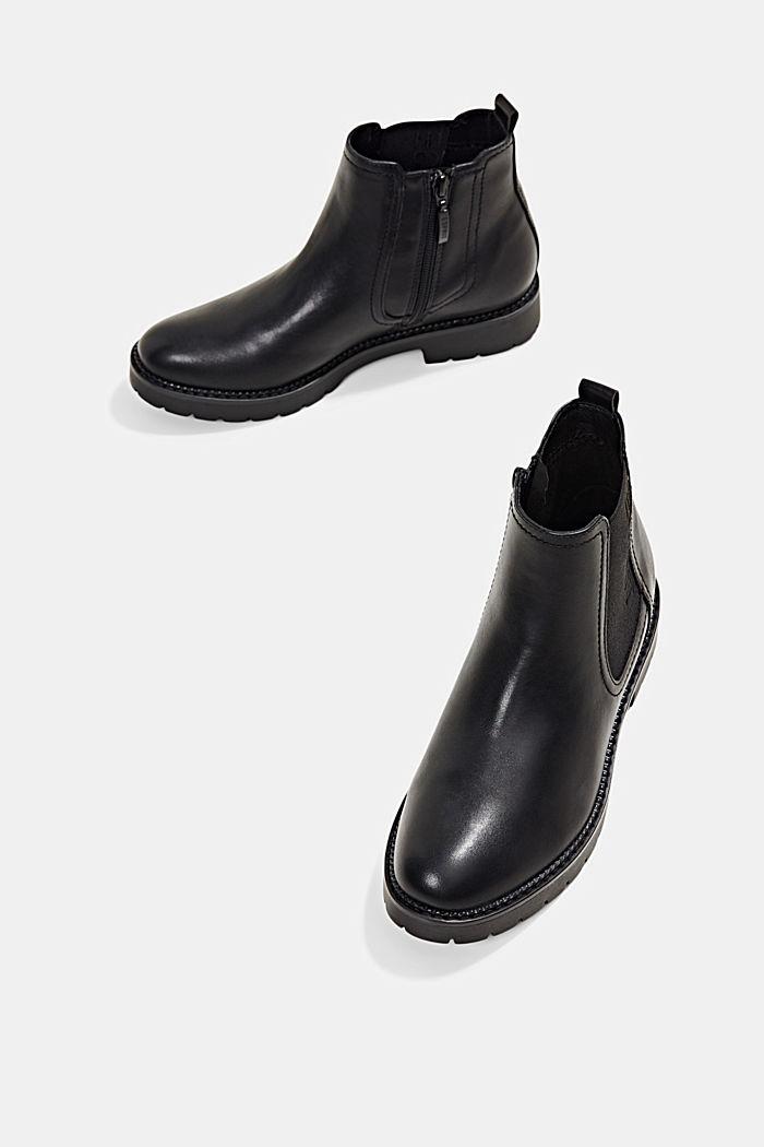 Chelsea-Boots mit Zipper in Lederoptik, BLACK, detail image number 6