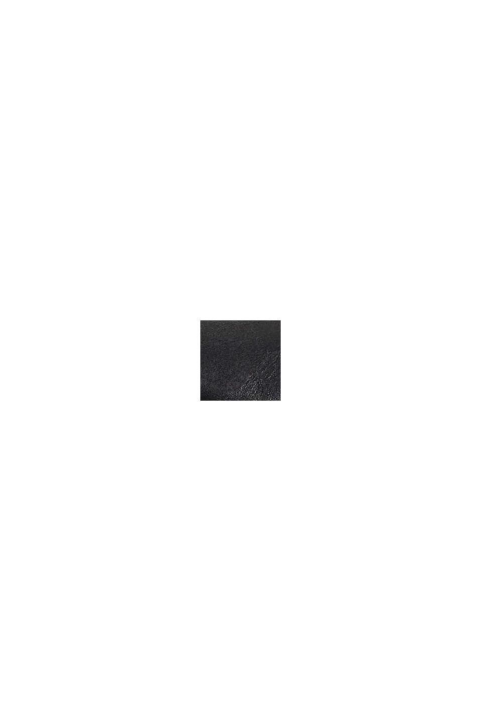 Botki chelsea z imitacji skóry z zamkiem, BLACK, swatch