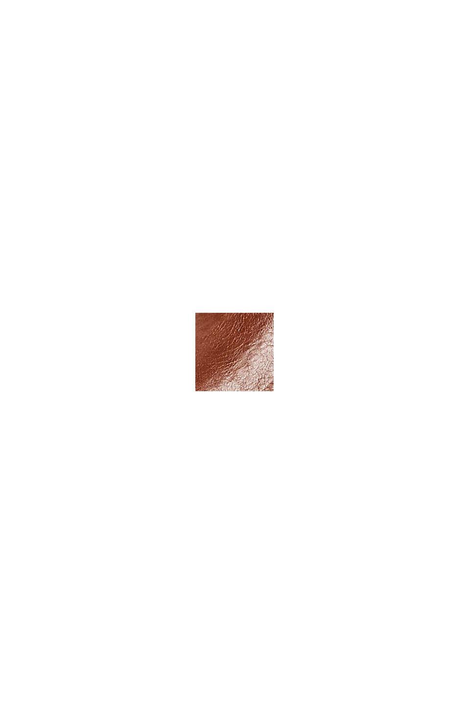 Botki chelsea z imitacji skóry z zamkiem, CARAMEL, swatch