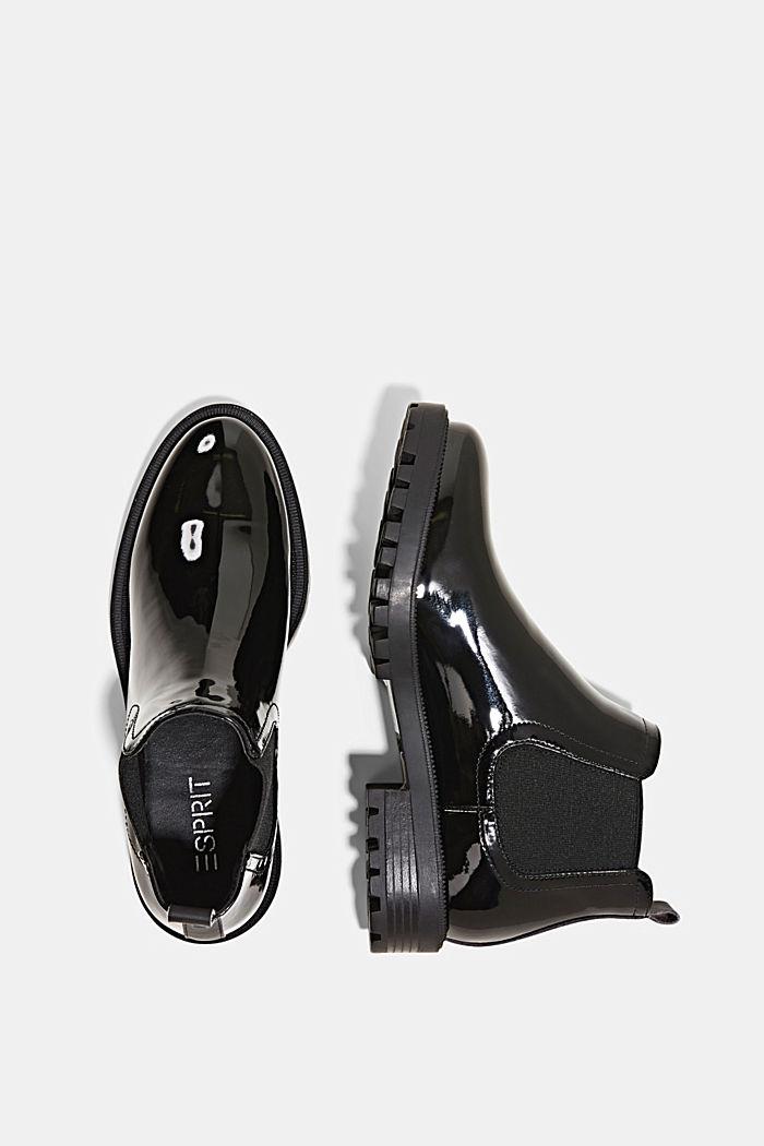 Chelsea-Boots in Lackleder-Optik, BLACK, detail image number 1