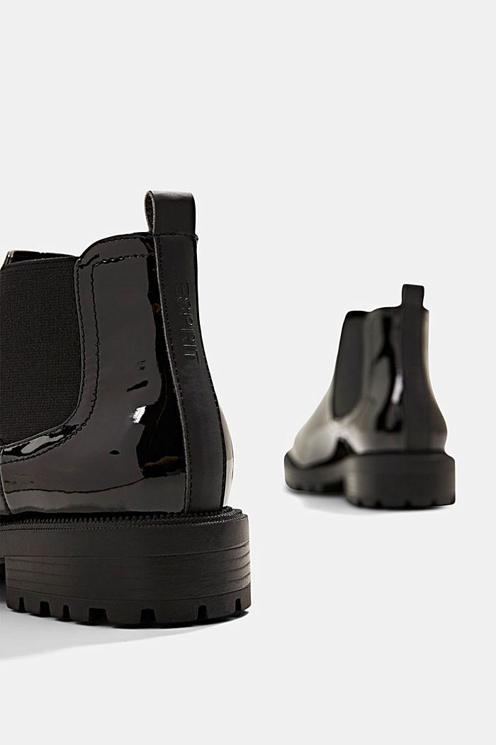 Chelsea-Boots in Lackleder-Optik, BLACK, detail image number 5