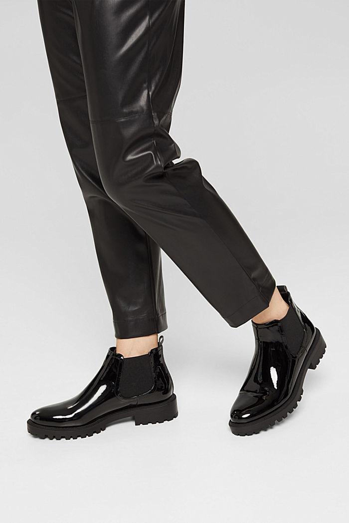 Chelsea boots van imitatielakleer