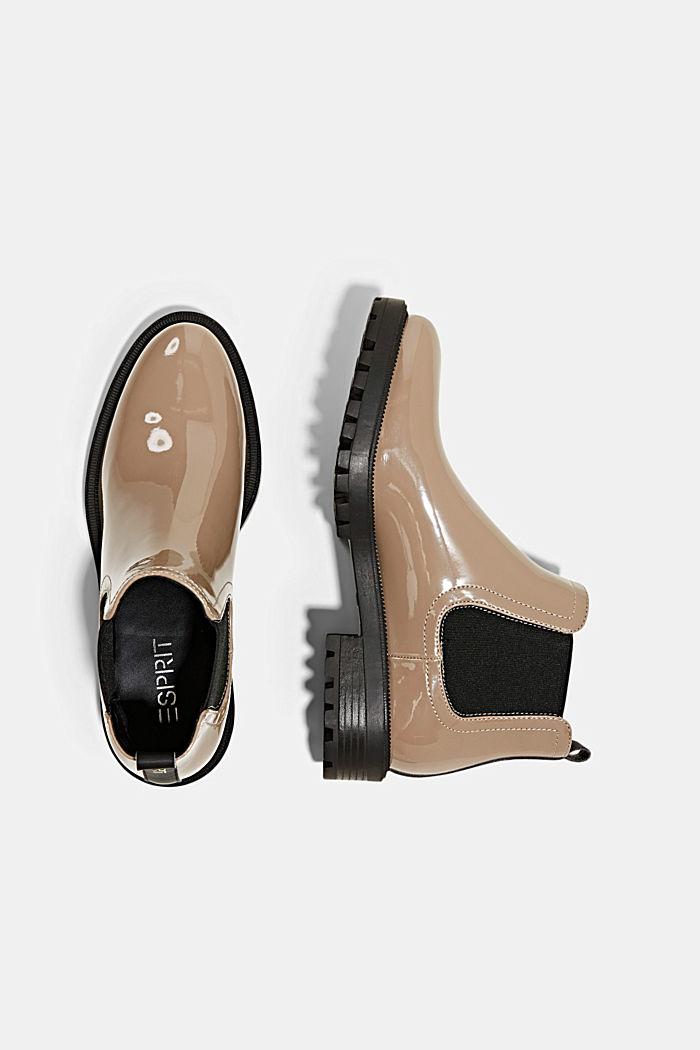 Chelsea boots van imitatielakleer, TAUPE, detail image number 1