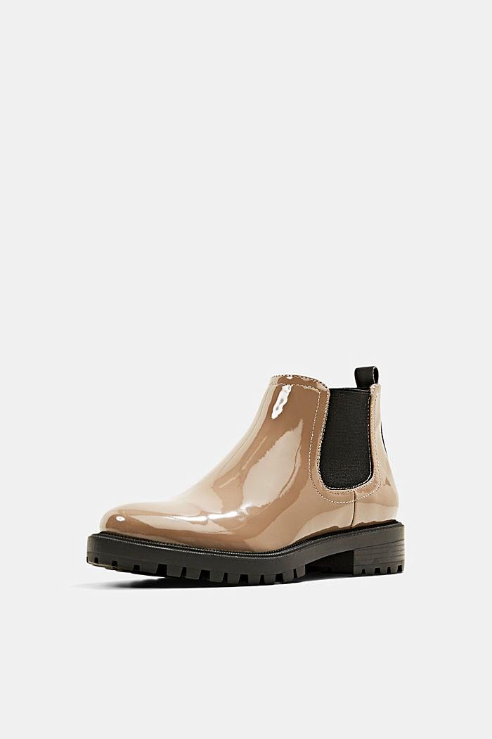 Chelsea boots van imitatielakleer, TAUPE, detail image number 2