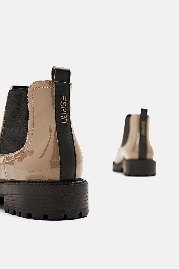Chelsea boots van imitatielakleer, TAUPE, detail image number 5