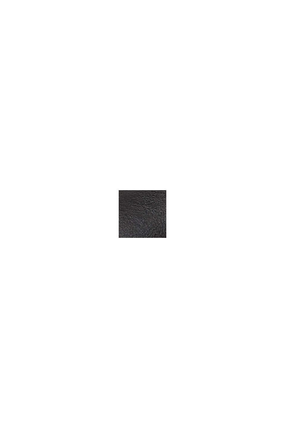 Botki z ekoskóry zamkiem, BLACK, swatch
