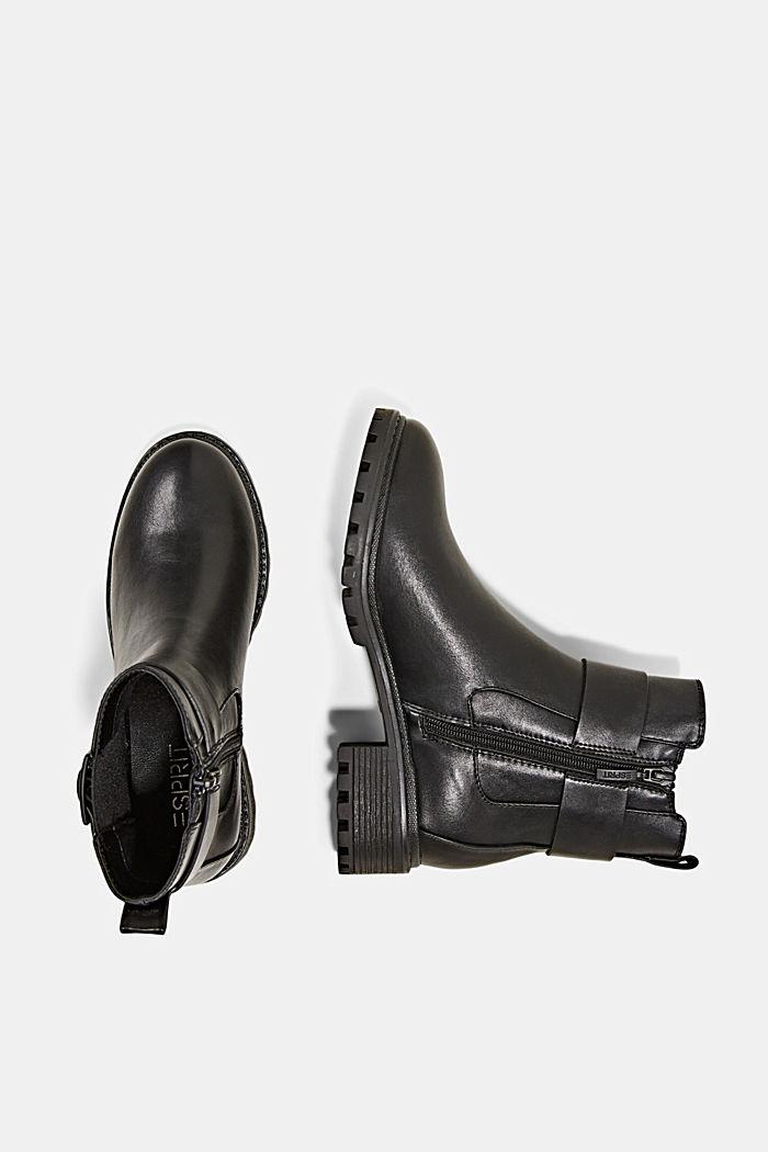 Laarzen van imitatieleer met gespdetail, BLACK, detail image number 1