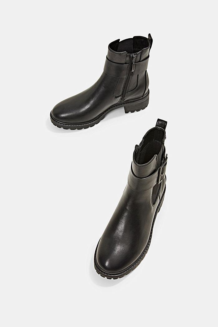 Laarzen van imitatieleer met gespdetail, BLACK, detail image number 6