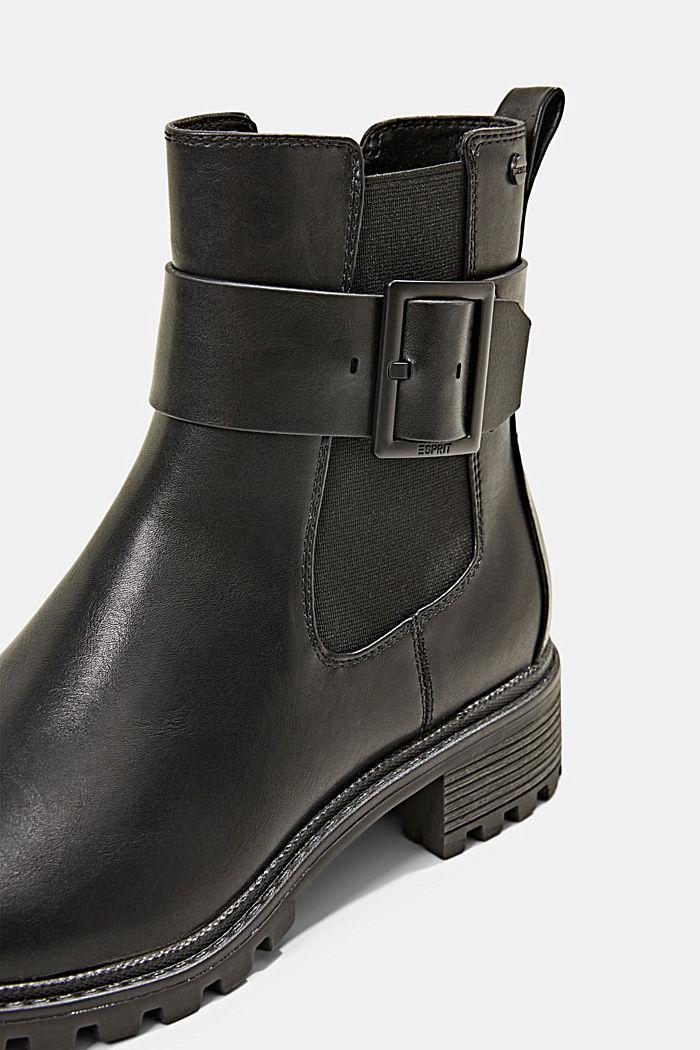 Laarzen van imitatieleer met gespdetail, BLACK, detail image number 4