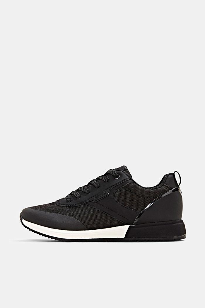 Sneakers met de look van hardloopschoenen, BLACK, detail image number 0