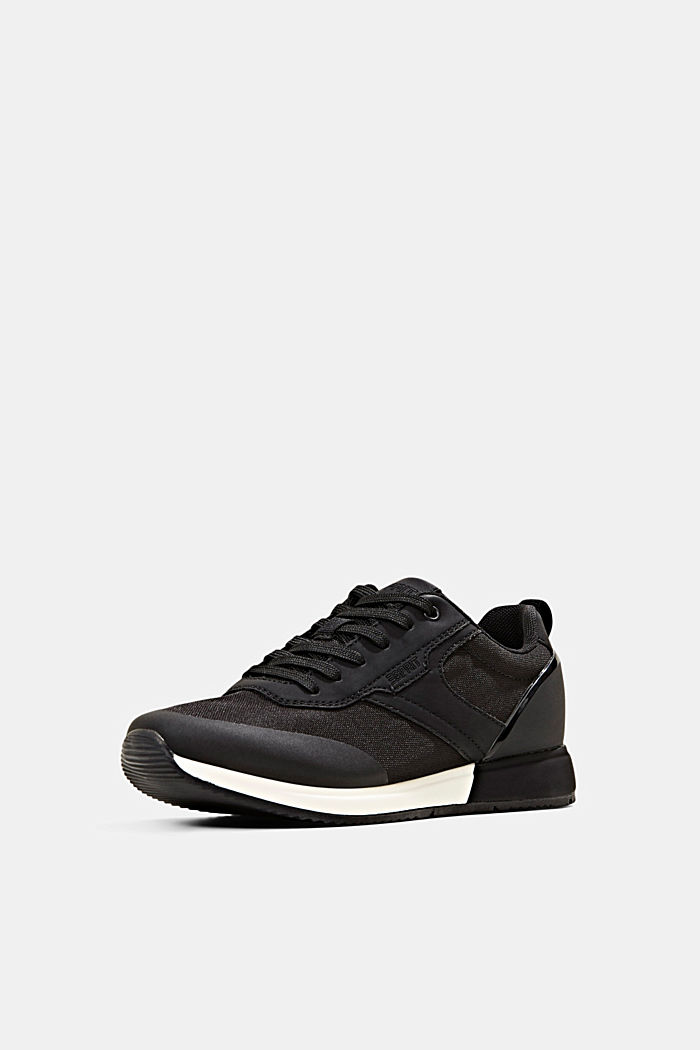 Sneakers met de look van hardloopschoenen, BLACK, detail image number 2