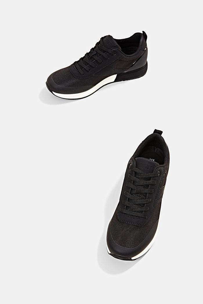 Sneakers met de look van hardloopschoenen, BLACK, detail image number 6
