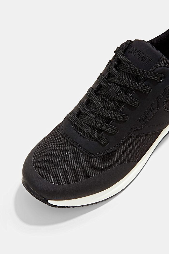 Sneakers met de look van hardloopschoenen, BLACK, detail image number 4