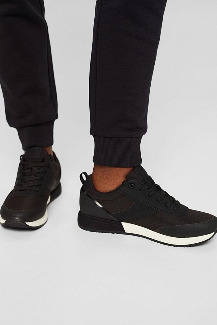 Sneakers met de look van hardloopschoenen, BLACK, detail image number 3