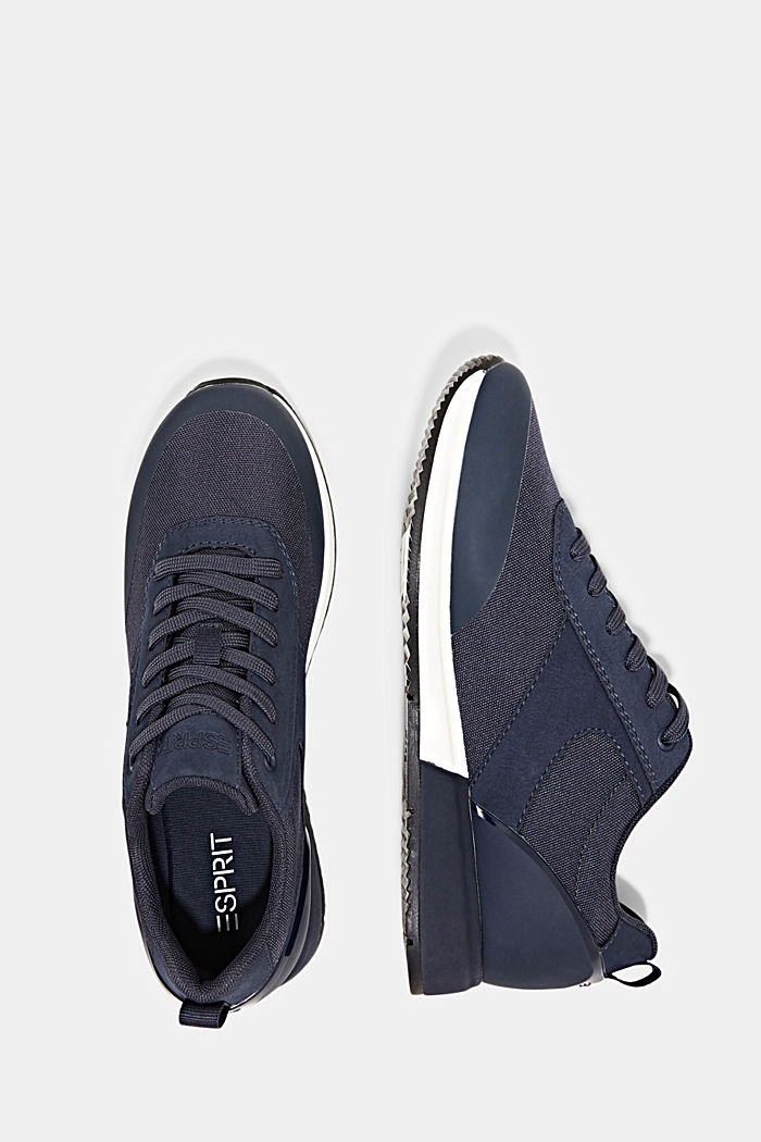 Sneakers mit Running-Silhouette, NAVY, detail image number 1