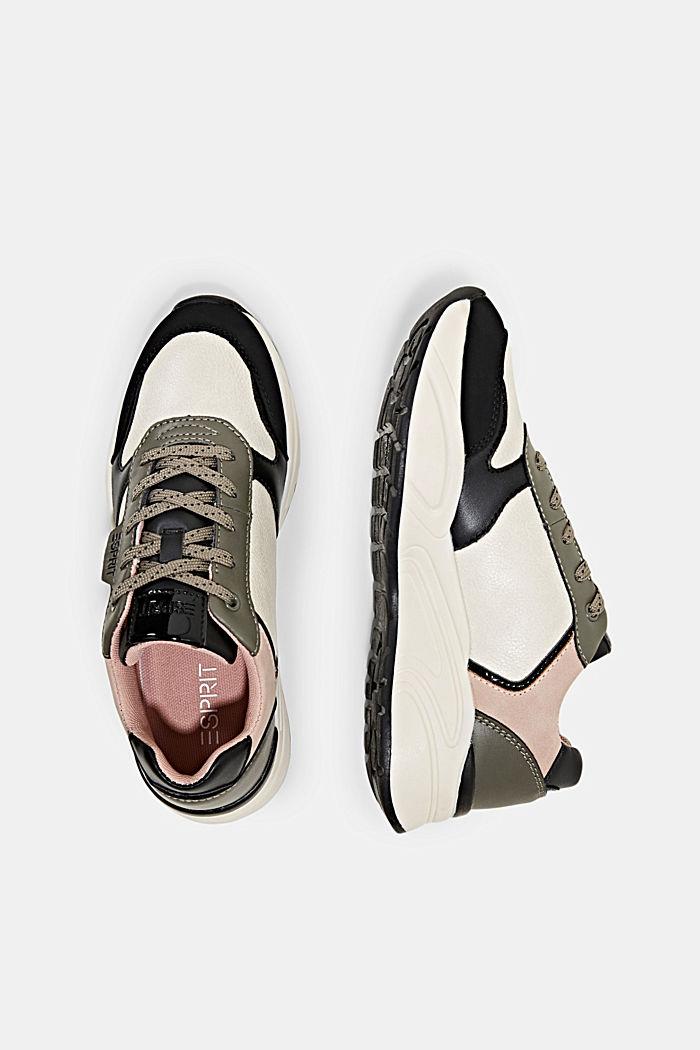Sneakers van imitatieleer, BLUSH, detail image number 1