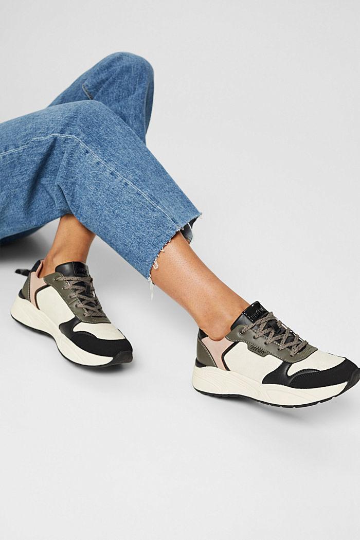 Sneakers van imitatieleer, BLUSH, detail image number 3