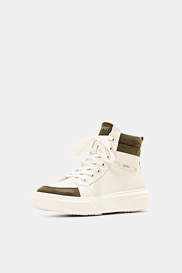 High Sneakers aus Materialmix in Lederoptik, SAND, detail image number 2