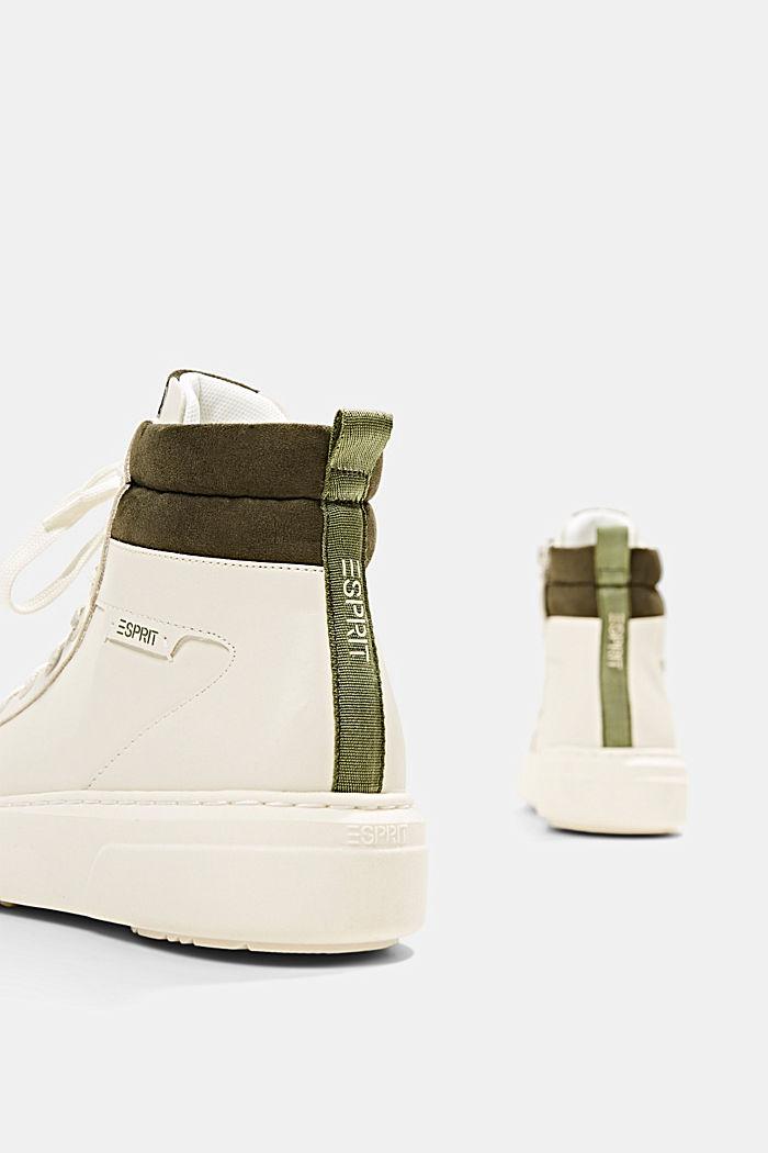 High Sneakers aus Materialmix in Lederoptik, SAND, detail image number 5