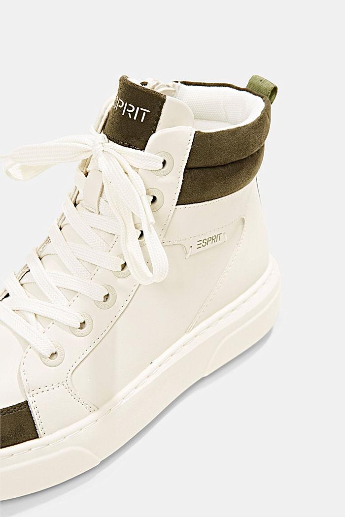 High Sneakers aus Materialmix in Lederoptik, SAND, detail image number 4