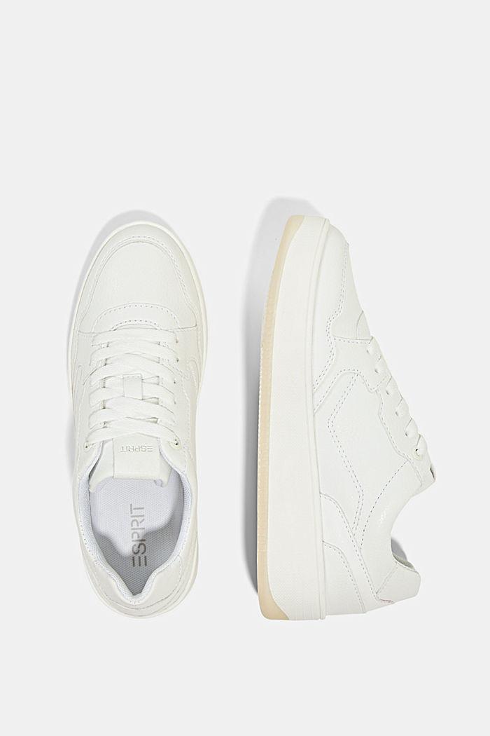Plateau-Sneaker in Lederoptik, WHITE, detail image number 1