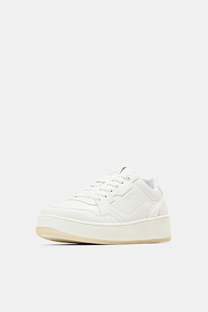 Plateau-Sneaker in Lederoptik, WHITE, detail image number 2