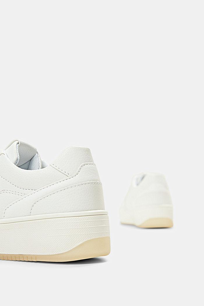Plateau-Sneaker in Lederoptik, WHITE, detail image number 5