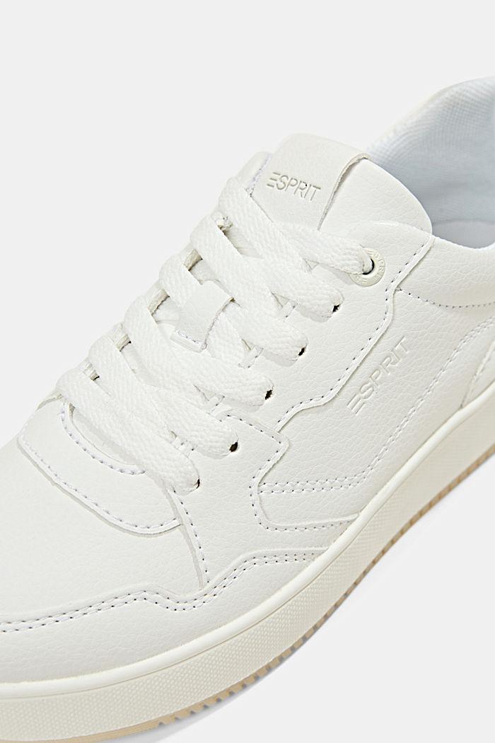 Plateau-Sneaker in Lederoptik, WHITE, detail image number 4