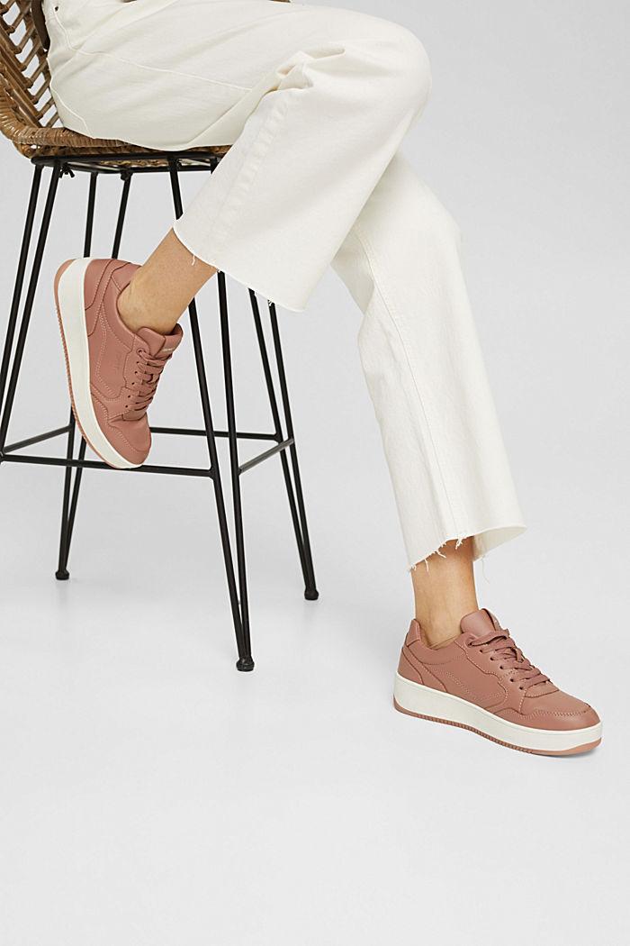 Plateau-Sneaker in Lederoptik, BLUSH, detail image number 6