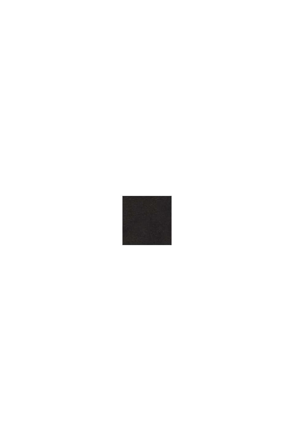 Botki na szerokiej podeszwie z imitacji skóry, BLACK, swatch