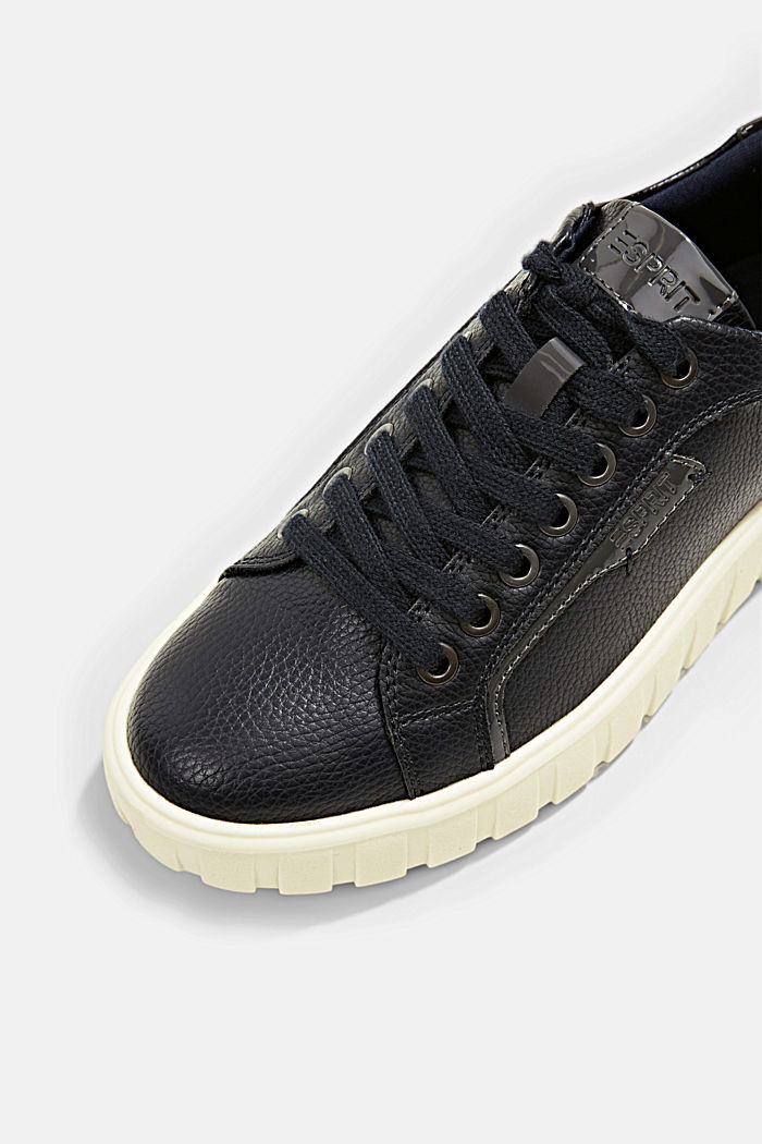 Platform trainers made of faux leather, NAVY, detail image number 4