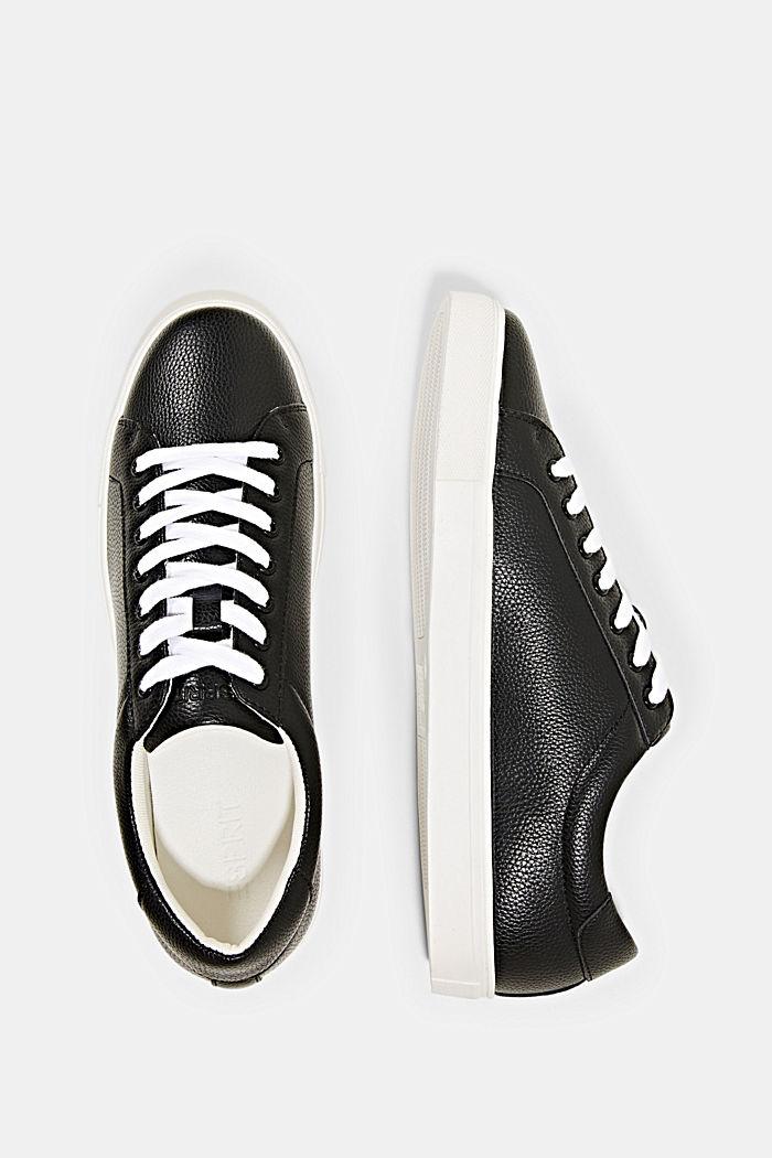 Sneakersy z ekoskóry, BLACK, detail image number 1