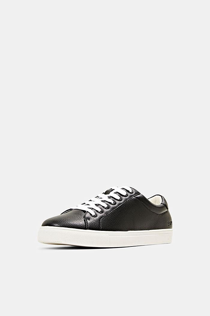 Sneakersy z ekoskóry, BLACK, detail image number 2