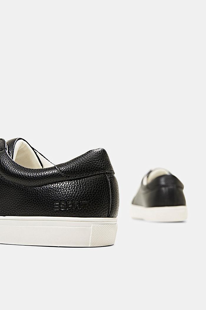 Sneakersy z ekoskóry, BLACK, detail image number 5