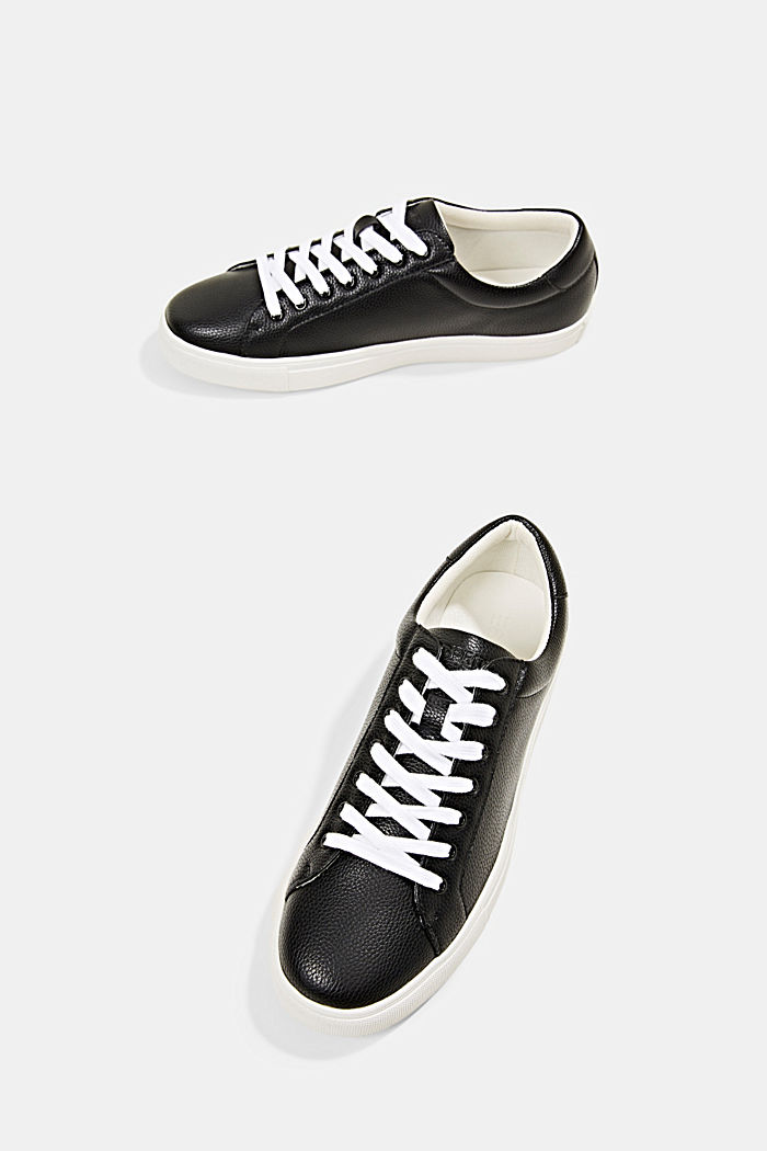 Sneakersy z ekoskóry, BLACK, detail image number 6