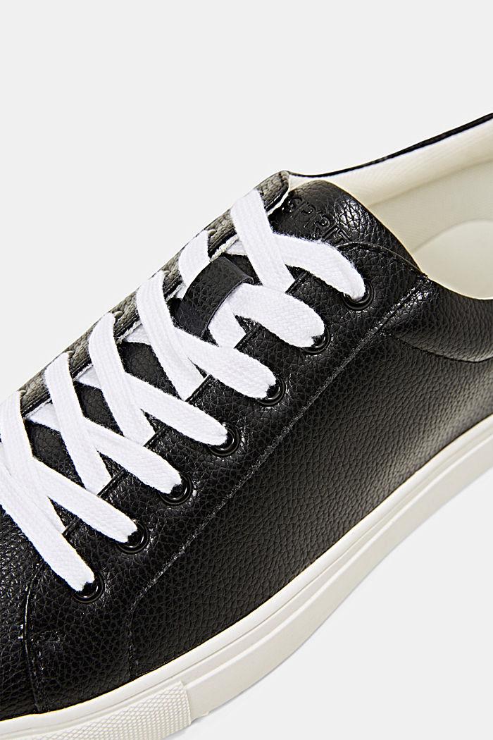 Sneakersy z ekoskóry, BLACK, detail image number 4