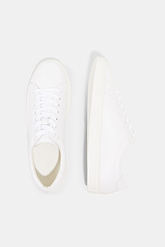 Sneaker in Lederoptik, WHITE, detail image number 1