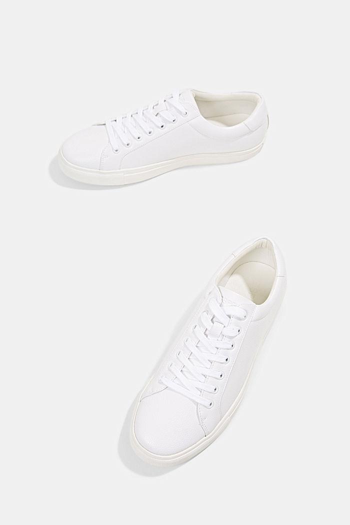 Sneaker in Lederoptik, WHITE, detail image number 6