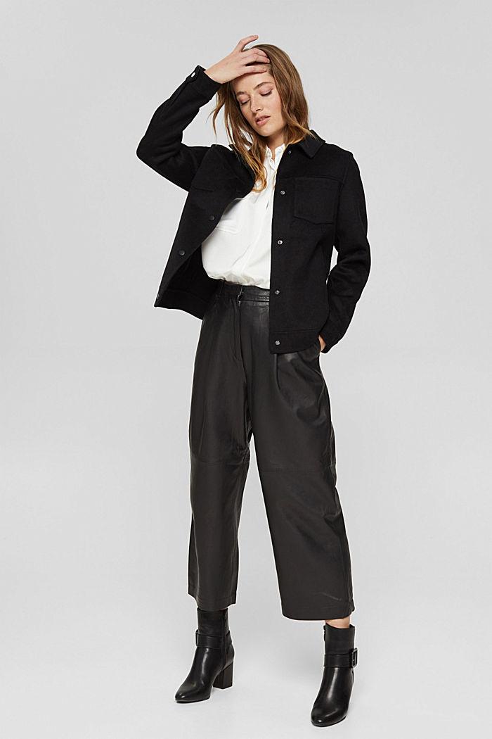 Van leer: culotte met hoge band, BLACK, detail image number 1