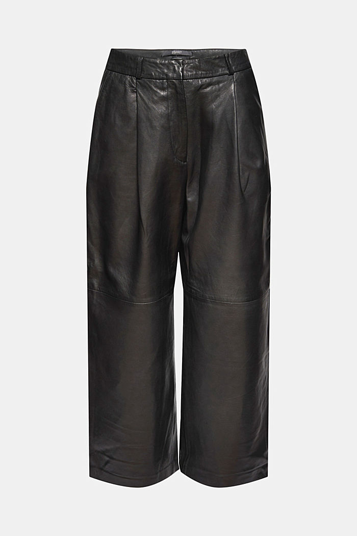 I skinn: culottebyxa med hög linning